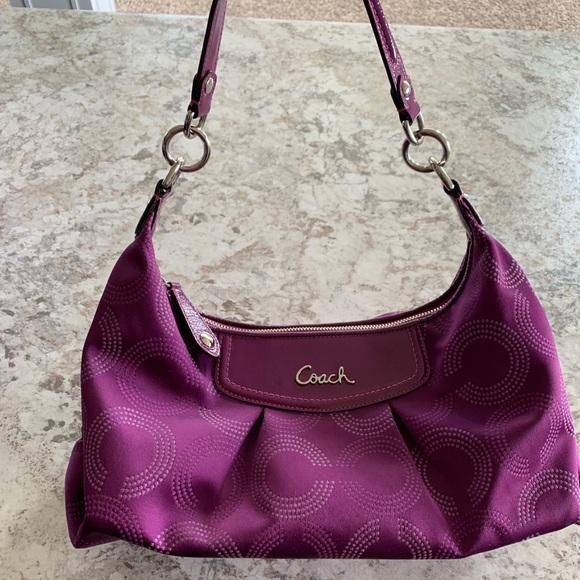 024212a82d5 Authentic Coach purse purple